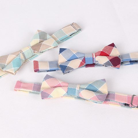 Hot Sale Stylish Colorful Plaid Jacquard Bow Tie For Men