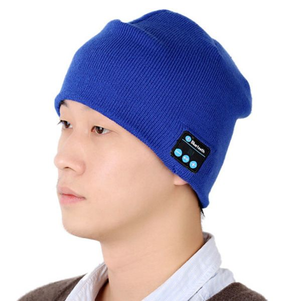 Stylish Outdoor Sports Bluetooth Headphones Speaker Mic Winter Warm Knitted Beanie Hat