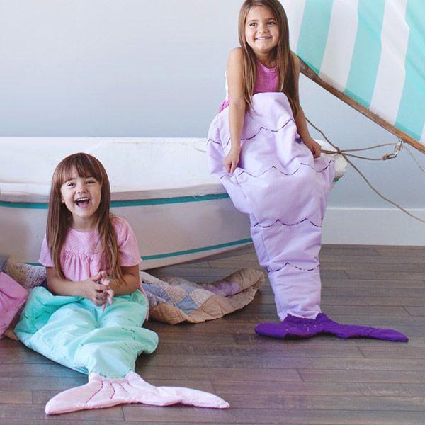 Hot Sale Flannel Double Layer Mermaid Design Kids' Sleeping Bag Blanket