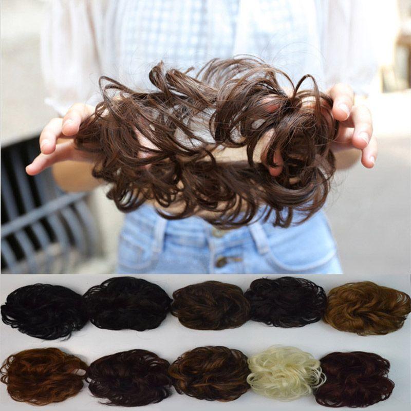 Curly Heat Resistant Fiber Hair Bun