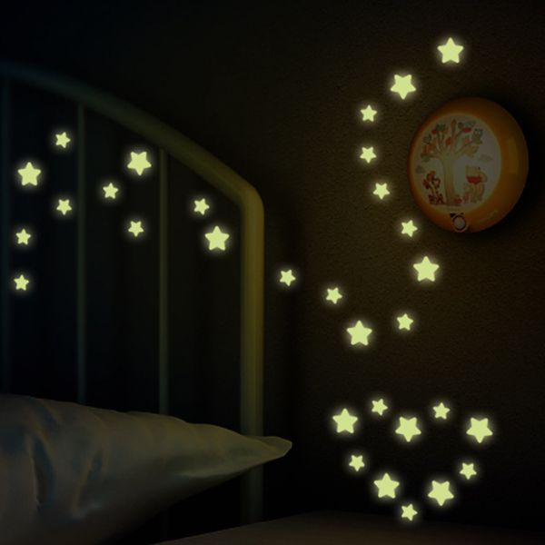 Creative Night Sky Bedroom Ceiling Decoration Fluorescence Glow Wall Stickers