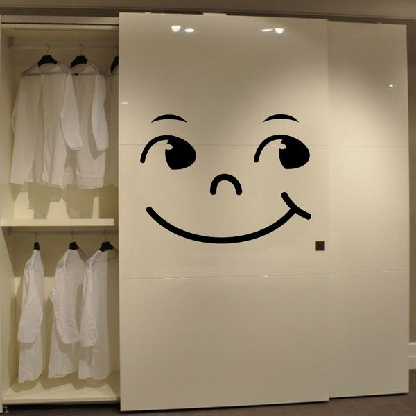 Chic Smiling Face Pattern Wall Stickers For Bedroom Decoration