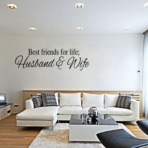 Fashion Letters Pattern Wall Sticker For Livingroom Bedroom Decoration