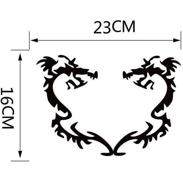 Fashion Black Dragons Pattern Toilet Sticker For Bathroom Decoration