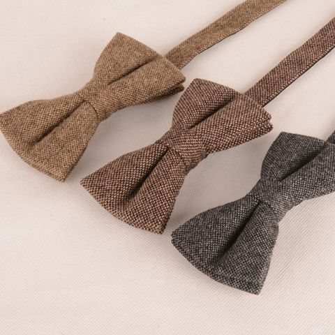 Stylish Dark Color Weaving Double-Deck Bow Tie For Men