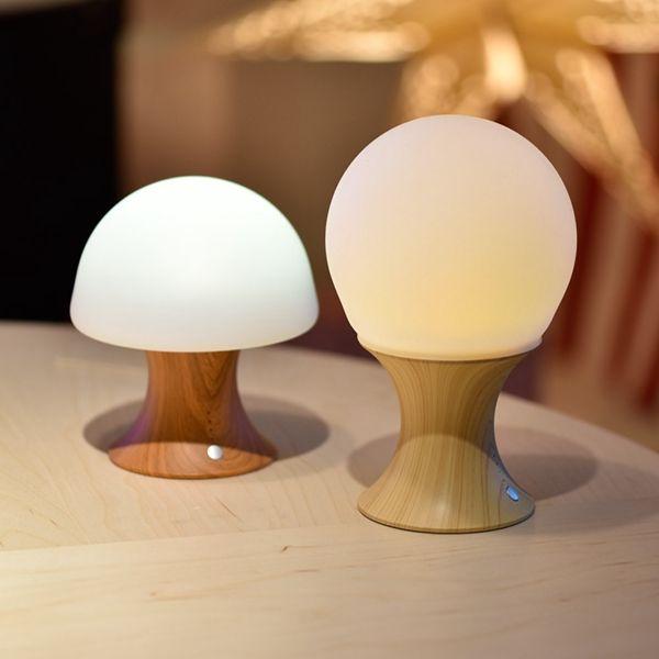 Fashion USB Home Decoration Bedside Lamp Mushroom Shape Silicone Led Night Light