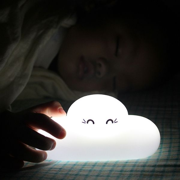 Fashion Bedside Lamp Cartoon Cloud Shape Touch Sensing LED Night Light