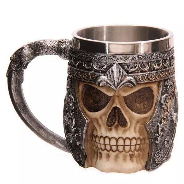 Cool Skull Design Stainless Steel 400ml Coffee Tea Cup