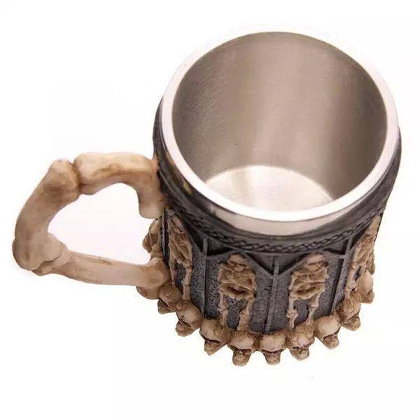 Cool Skeleton Design Stainless Steel 400ml Coffee Tea Cup