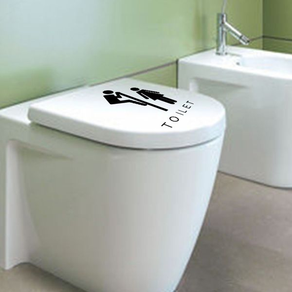 Fashion Male and Female Pattern Toilet Sticker For Bathroom Restroom Decoration