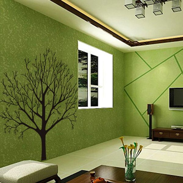Fashion Tree Branch Pattern Background Wall Sticker For Bedroom Livingroom Decoration