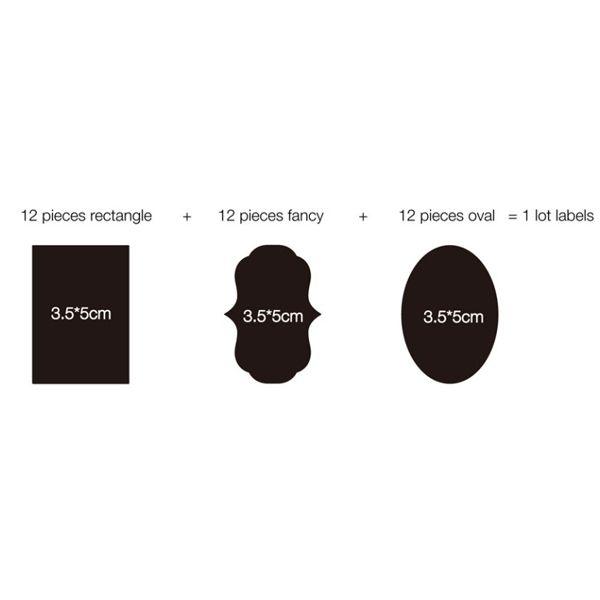36PCS Fashion Blank Blackboard Pattern Label Sticker For Gift DIY Marking