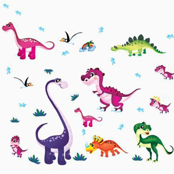Fashion Cartoon Dinosaur Pattern Wall Sticker For Children's Bedroom Decoration