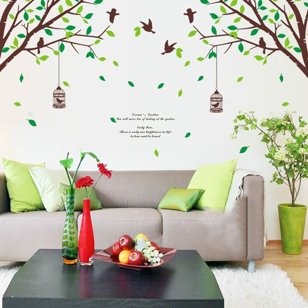 Chic Large Size Trees Landscape Pattern Wall Sticker For Bedroom Livingroom Decoration