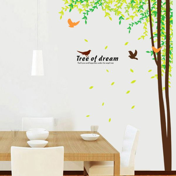 Chic Large Size Tree of Dream Landscape Pattern Wall Sticker For Bedroom Livingroom Decoration