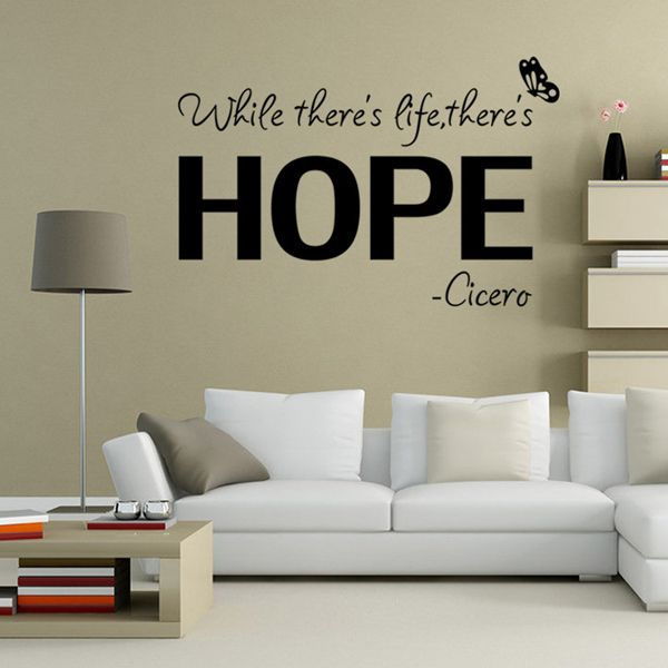 Chic Simple Letters Pattern Wall Sticker For Bedroom Livingroom Decoration