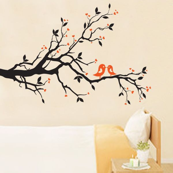 Chic Tree Branch Bird Pattern Wall Sticker For Bedroom Livingroom Decoration
