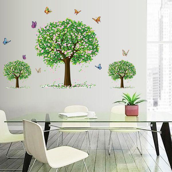 Chic Three Trees Pattern Wall Sticker For Bedroom Livingroom Decoration