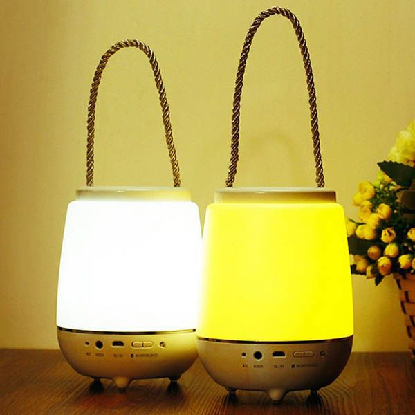 Stylish Multifunctional Portable Bluetooth Speakers Desktop Decoration Night Lamp