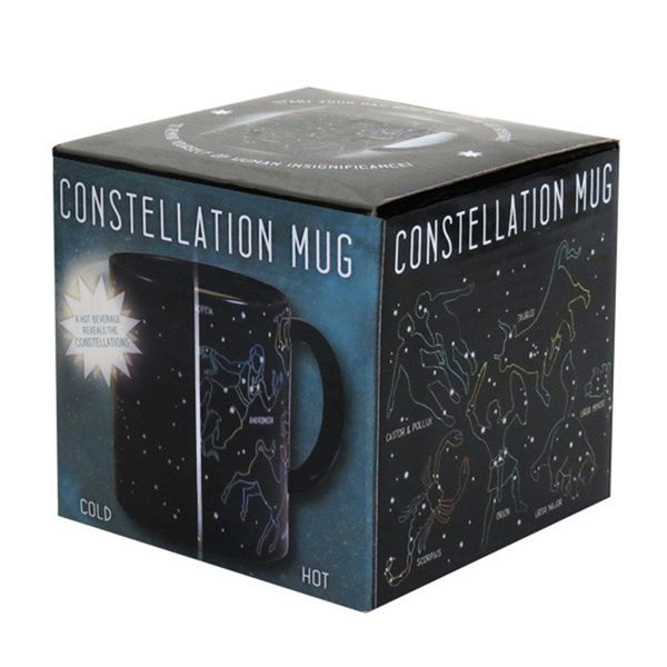 Novelty Office Tea Coffee Cup Constellation Pattern Color Changing Ceramic Mug