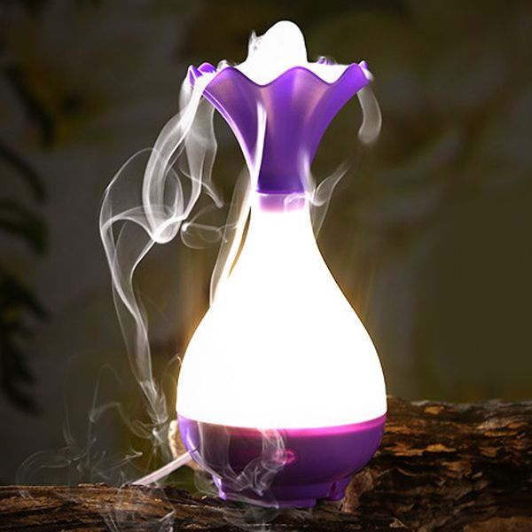 Mute Jade Net Bottle Shape Night Light Nebulization Aroma Diffuser Humidifier