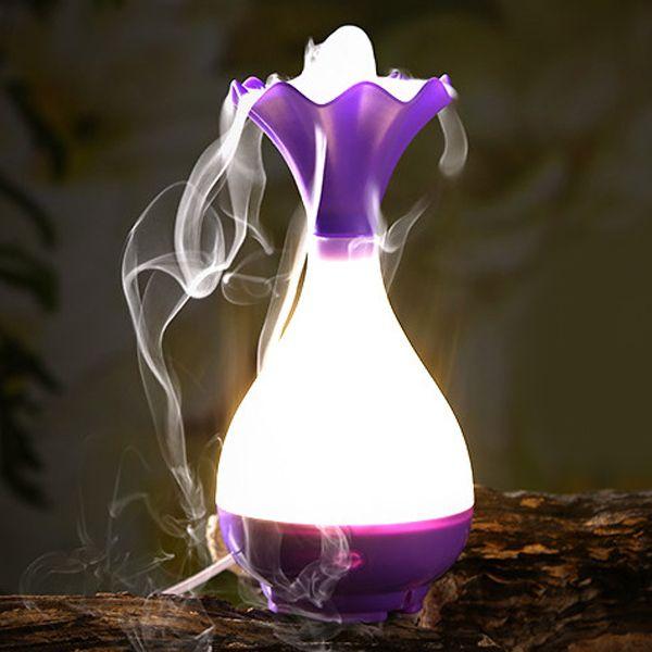 Mute Jade Net Bottle Shape Night Light Nebulization Aroma Diffuser Humidifier