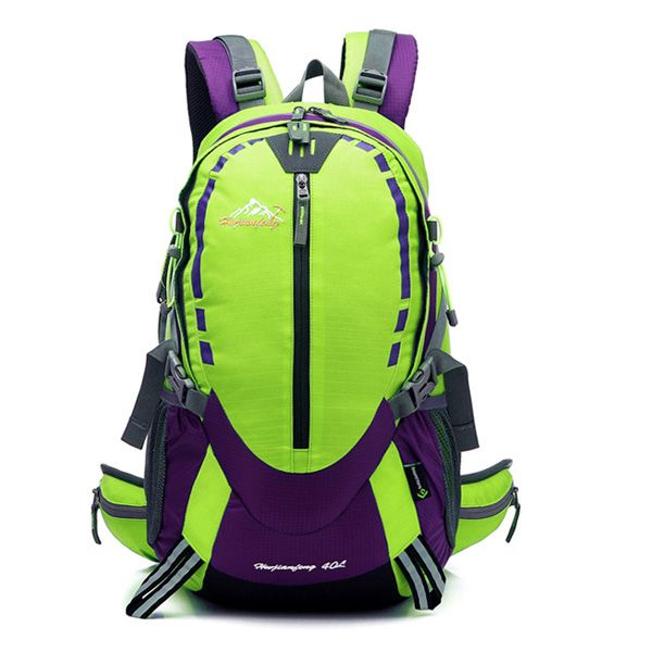 Large Capacity Waterproof Suspended Back Frame Color Block Outdoor Climbing Bag
