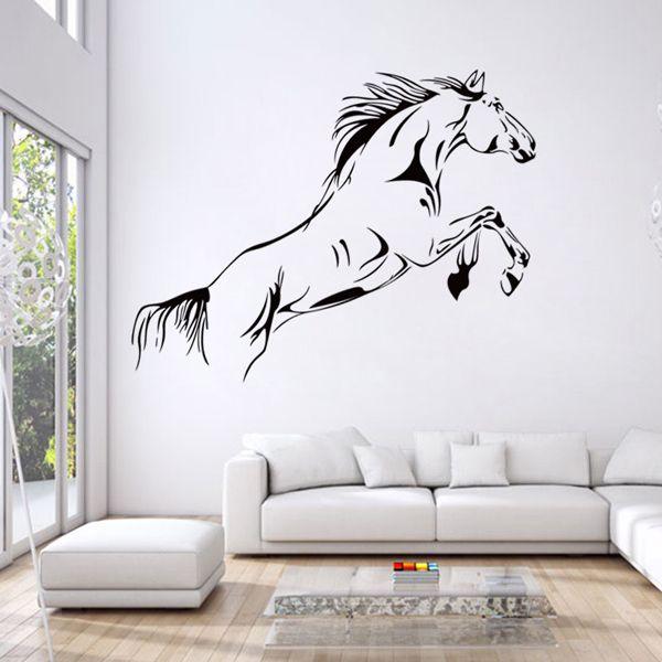Fashion Running Horse Pattern Wall Sticker For Bedroom Livingroom Decoration