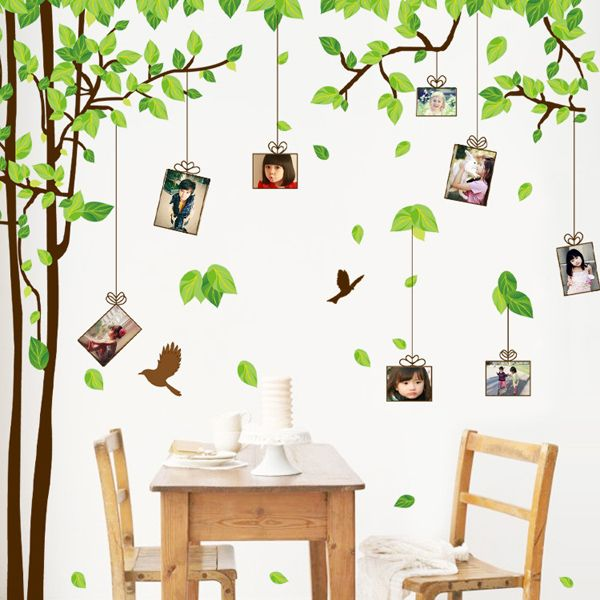Fashion Tree Memory Pattern Photo Wall Sticker For Bedroom Livingroom Decoration