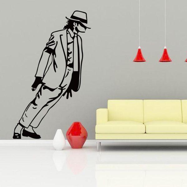Fashion Michael Jackson Pattern Wall Sticker For Bedroom Livingroom Decoration
