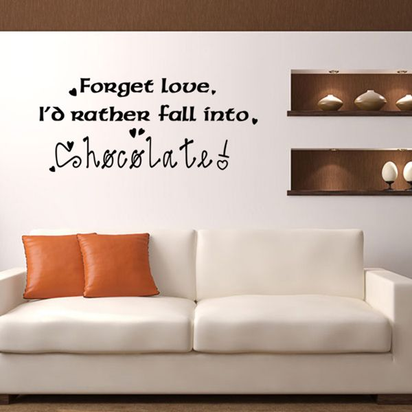 Fashion English Letters Pattern Wall Sticker For Bedroom Livingroom Decoration