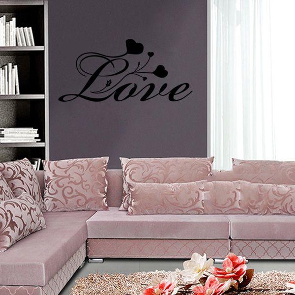 Fashion Love Hearts Pattern Wall Sticker For Bedroom Livingroom Decoration