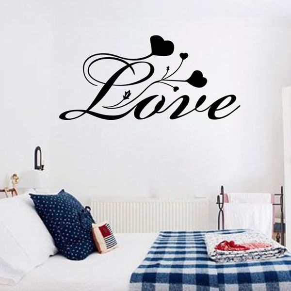 Fashion Love Hearts Pattern Wall Sticker For Bedroom Livingroom Decoration