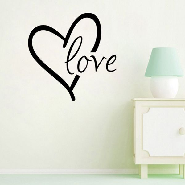 Fashion Heart Love Pattern Plane Wall Sticker For Bedroom Livingroom Decoration
