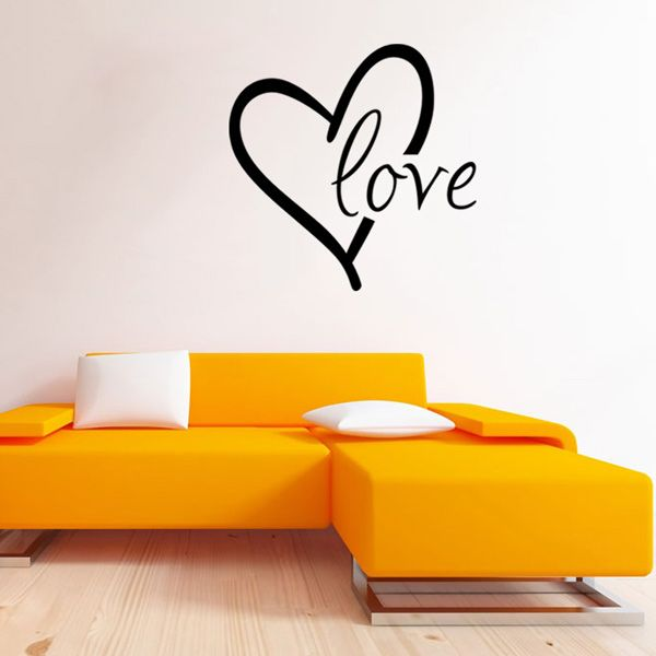 Fashion Heart Love Pattern Plane Wall Sticker For Bedroom Livingroom Decoration