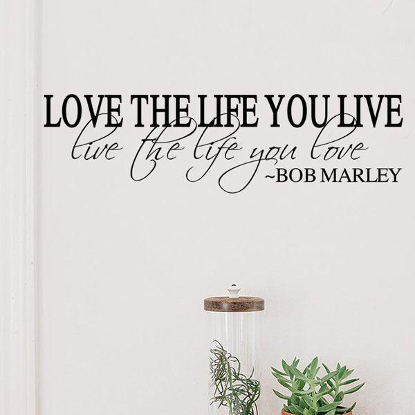 Fashion Love Life Pattern Plane Wall Sticker For Bedroom Livingroom Decoration
