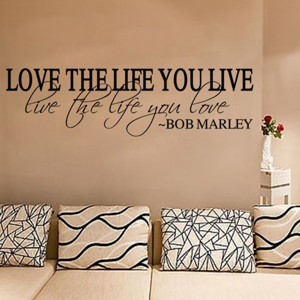 Fashion Love Life Pattern Plane Wall Sticker For Bedroom Livingroom Decoration
