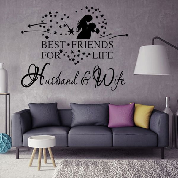 Fashion Lovers Pattern Plane Wall Sticker For Bedroom Livingroom Decoration