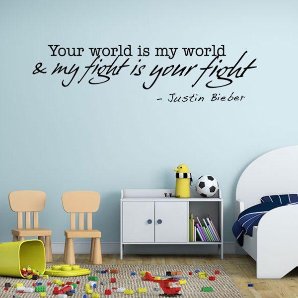 Stylish English Proverbs Pattern Plane Wall Sticker For Bedroom Livingroom Decoration
