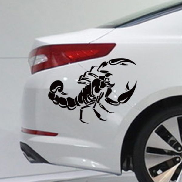 Stylish Black Scorpion Pattern Wall Sticker For Car Vehicle Decoration