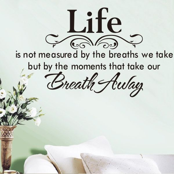 High Quality English Poetry Pattern Removeable Wall Stickers