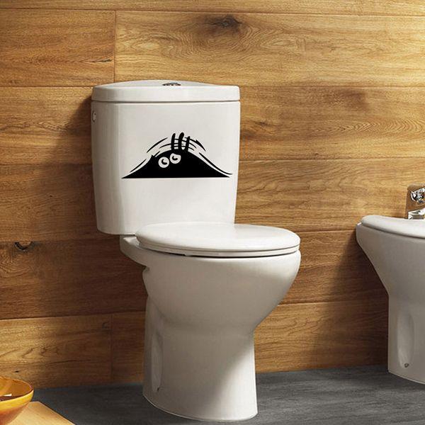 Eye Pattern Toilet Wall Art Stickers Home Decoration