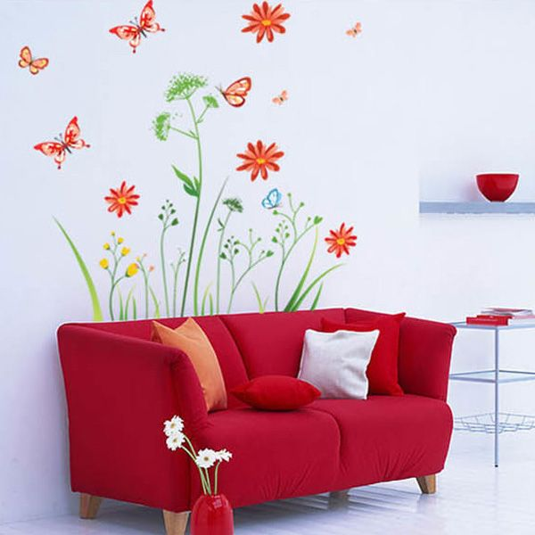 Chic Quality DIY Romantic Recent Pattern Wall Stickers For Home Decor