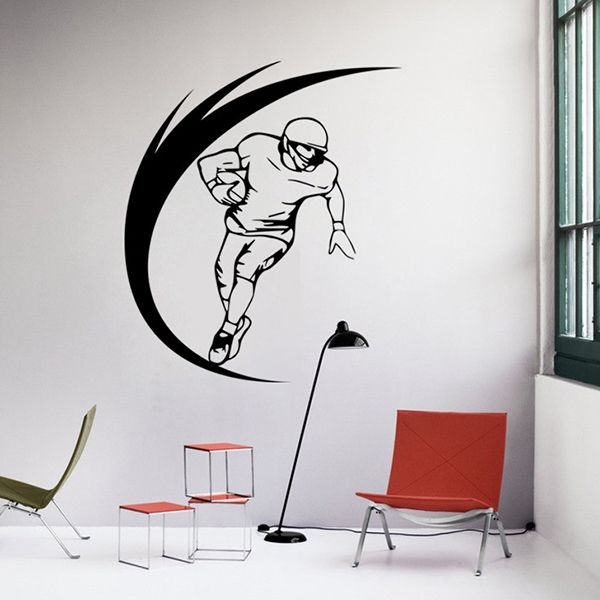 Fashion Sportsman Pattern Wall Sticker For Livingroom Bedroom Decoration