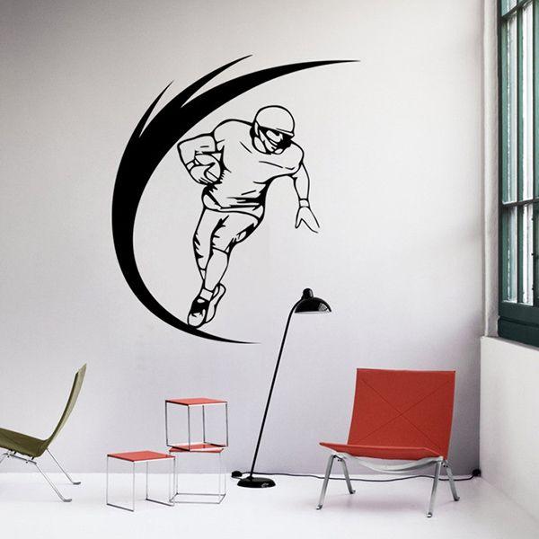 Fashion Sportsman Pattern Wall Sticker For Livingroom Bedroom Decoration