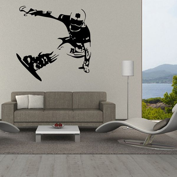 Fashion Skiing Boy Pattern Wall Sticker For Livingroom Bedroom Decoration