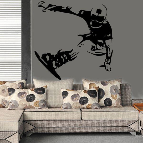 Fashion Skiing Boy Pattern Wall Sticker For Livingroom Bedroom Decoration