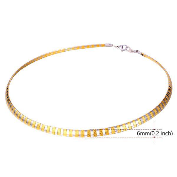 Alloy Two Tone Match Snake Shape Necklace