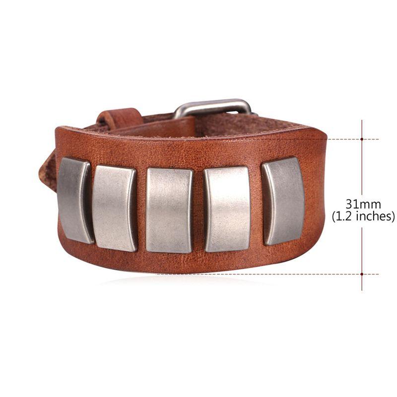 Rectangle Alloy Embellished Adjustable Bracelet
