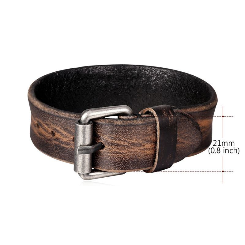 Retro Style Pin Buckle Adjustable Bracelet